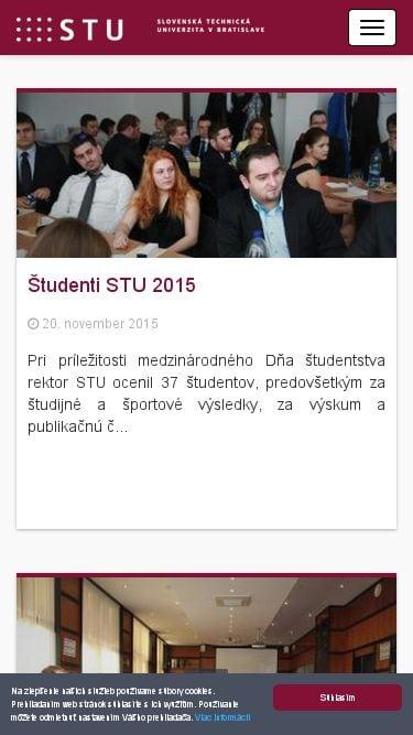 Responzívna webová stránka Slovenskej technickej univerzity