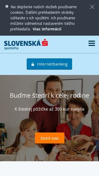 Mobilná responzivita webu banky Slovenská sporiteľňa
