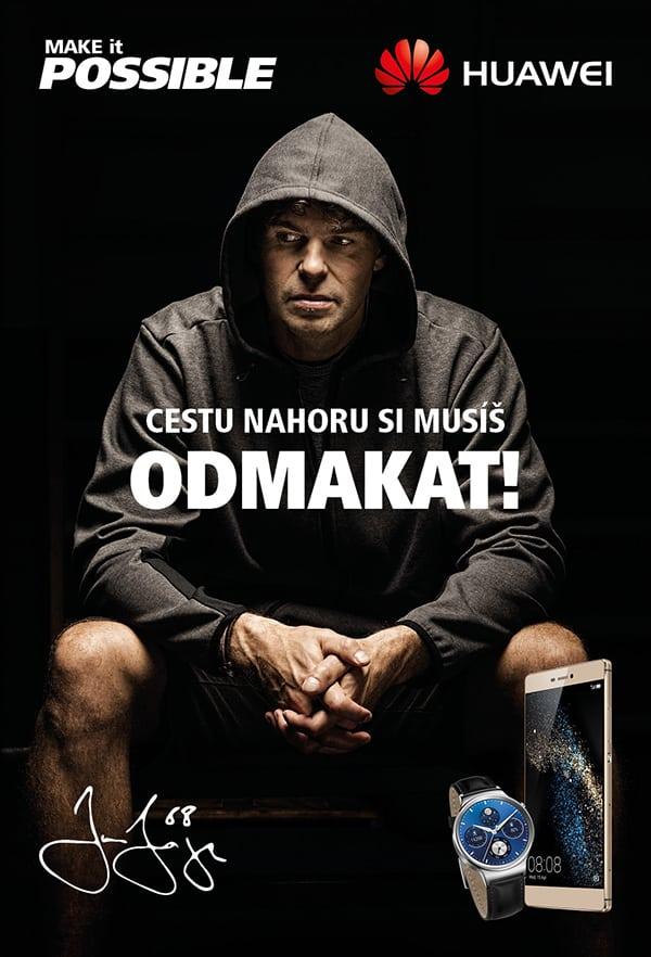 Hokejista Jágr propagujúci značku Huawei