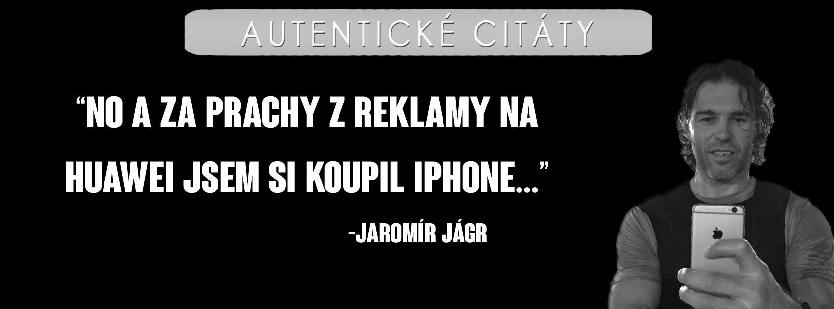 Jágr s iPhone