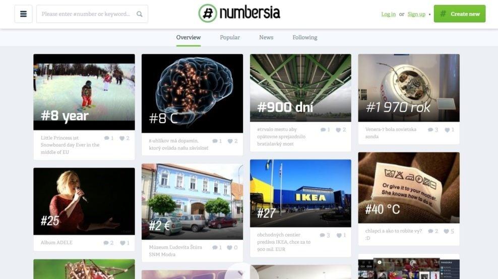Sociálne siete Numbersia