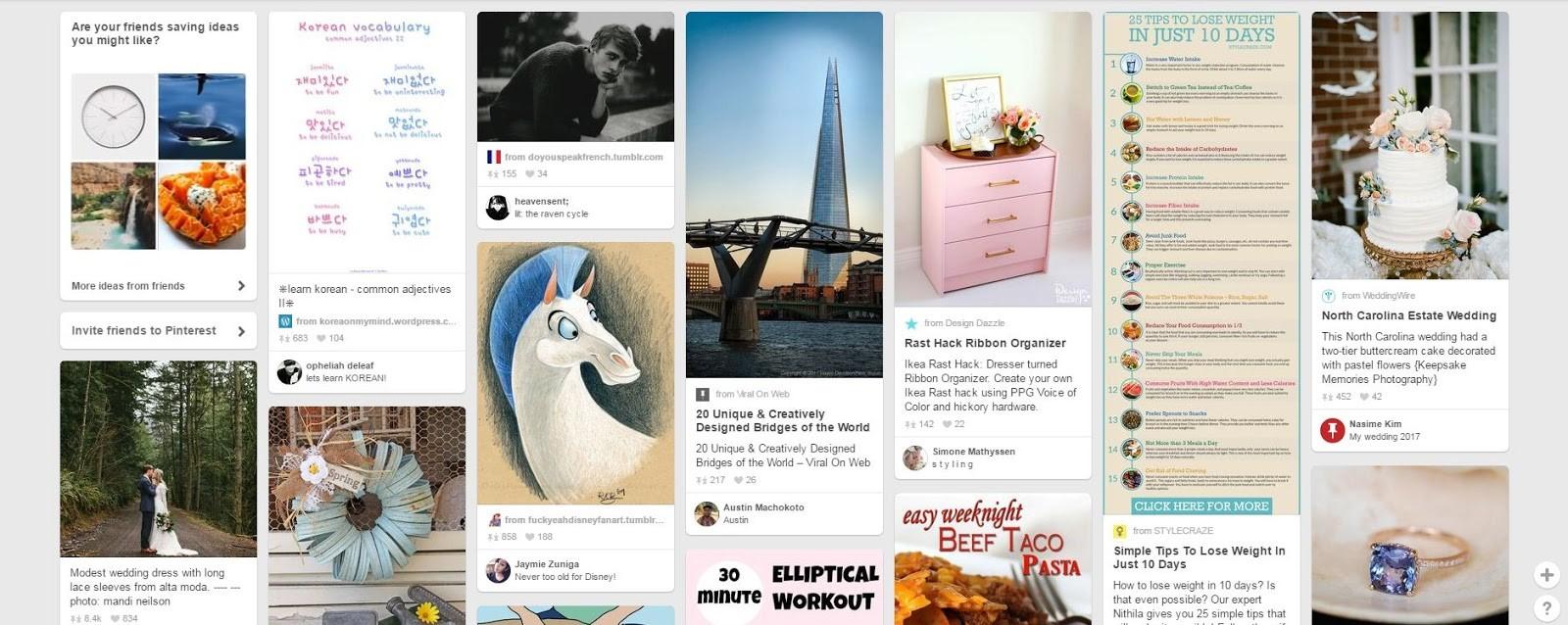 Sociálne siete Pinterest