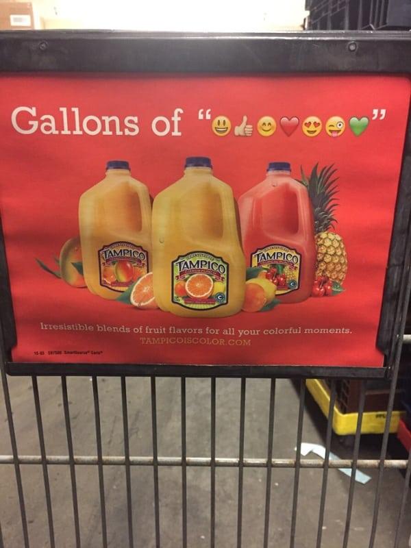 Nevhodné použitie emotikonov v printovej reklame
