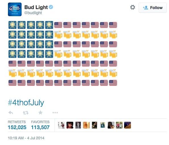 Príspevok na sociálnej sieti Twitter od BudLight