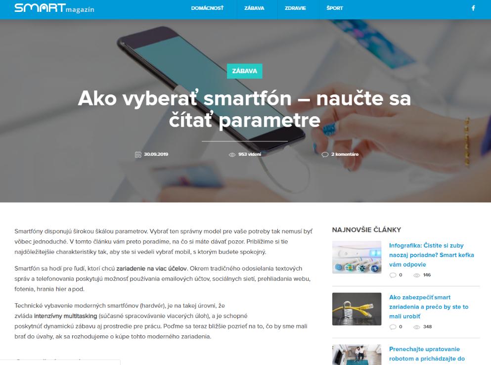 Smartmagazín NAY - článok
