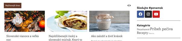 Obsahová sekcia na webe Penam s kategóriou Nezaradené
